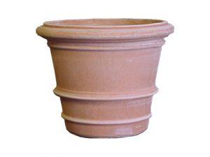 Grote ronde terracotta potten met diameter meer dan 40cm