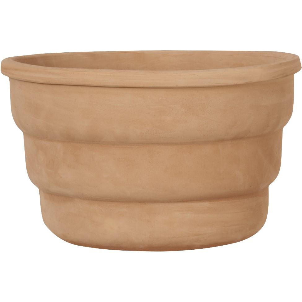 Kleine ronde terracotta potten met diameter t/m 40cm
